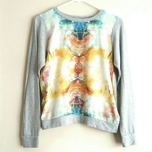 🔥 NWOT F21 Lightweight Graphic Chiffon Sweater🔥